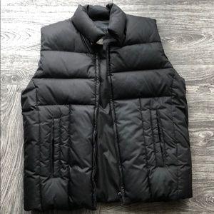 Banana Republic black down puffer vest small